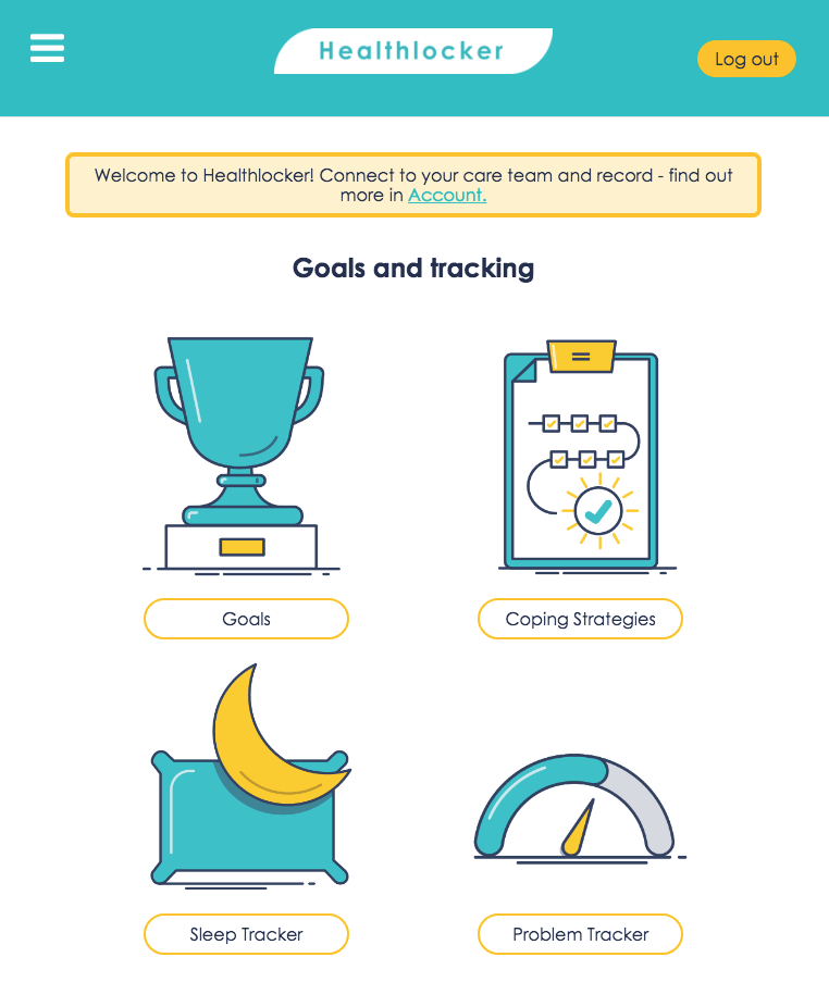 The healthlocker goals app
